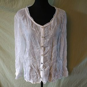 J.jill white blouse